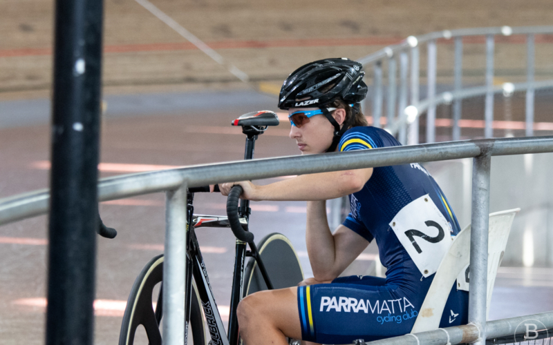 Finley Moutter, track cyclist with Parramatta Cycling Club